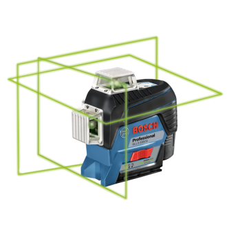 360⁰ Connected Green-Beam Three-Plane Leveling and Alignment-Line Laser