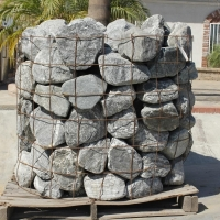 "Blue Granite River Rock 6""-9"""