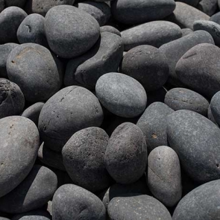 "Mex Beach Pebbles 2"" – 3"" black"