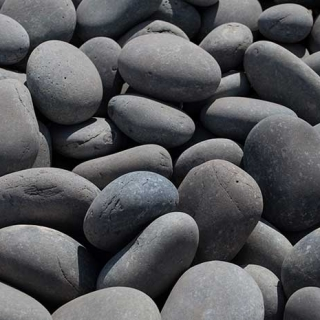 "Mex Beach Pebbles 3"" – 5"" black"