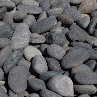 "Mex Beach Pebbles 1"" – 2"" black"